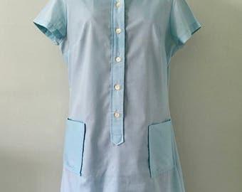 1950s Blue Shift Dress/Madris Dress/50s