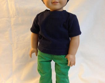 Green denim jeans pants 18 inch doll clothes boy doll clothes
