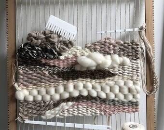 The Big Mama Bamboo Weaving Loom, Acrylic Tools and Cotton Warp