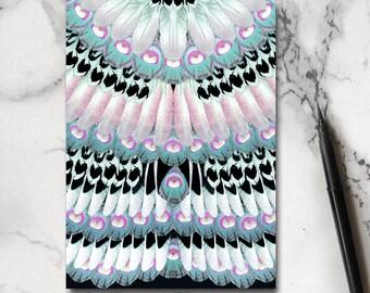 Feather Notebook - Jotter - Notepad - Stocking Filler - Bird Notebook - Bohemian Notebook