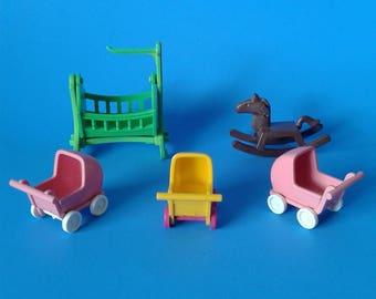 "Playmobil Victorian Mansion "" Nursery Replacement Parts ""  5300 Series HTF RARE"