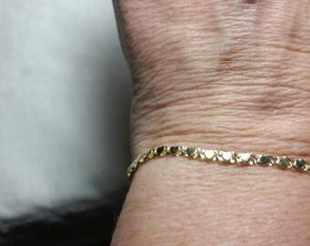 10kt Gold Heart Bracelet, Sweetheart Bracelet, Promise Bracelet, Gold Heart Jewelry, 10kt Bracelet, Graduation Gift, Birthday Gift