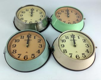 Vintage Polished Steel Seiko Ship's Clock - Four Original Finishes Available
