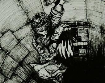 Print of original ink drawing