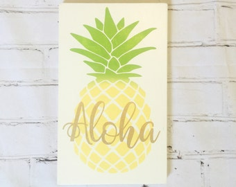 Pineapple sign | Etsy