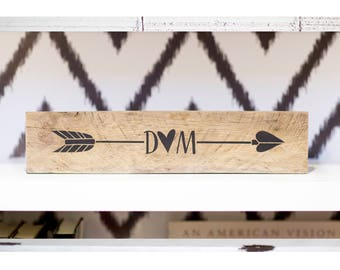 Unique Wedding Gift For Her | Personalized Gift Reclaimed Wood Arrow Sign Decor | Rustic Home Decor | Wedding Gift For Couple