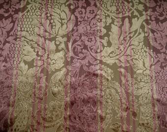 CLARENCE HOUSE Lotus Cut Velvet Damask Fabric 1 Yard Remnant Gold