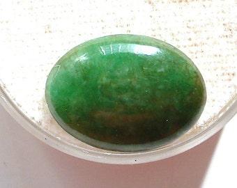 S A L E 50% Off!!! GREEN JADEITE JADE Oval Cabochon (15.5x11.3x3.3mm)