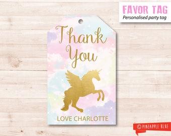 Unicorn favor tag | Unicorn party favor tag | Birthday favor tag | Party favor tag | Party gift tag | Unicorn favor tag | Rainbow favor