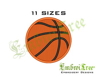 Basketball Embroidery Design - Machine Embroidery Designs - Sports Embroidery File - Instant Download