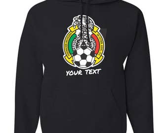 Seleccion Mexico FMF Hooded Sweatshirt Hoodie Hoody Sudadera With Custom Text(optional)