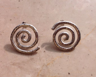 925 Silver spiral earrings