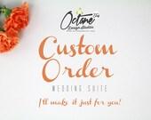 Custom Bridal Signage Order for Nakia M.