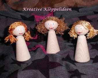 Angel painted 3 figure Cone as an accessory for the clapper letter