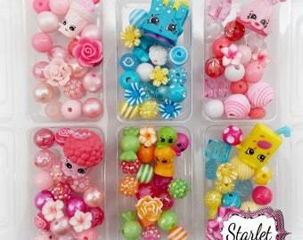 Shopkins Season 7 Bead Kits, Shopkins DIY Bracelet Kits, Shopkins Jewelry, Party Favors