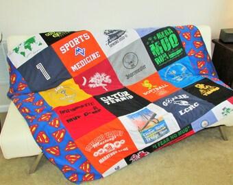 Regular TShirt Quilt - Baby Memory Quilt - T-Shirt Quilt - Memory Quilt - In Loving Memory - Custom Design Quilt - Custom Bed Quilt - Quilt