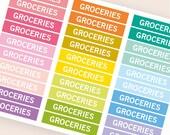 Lebensmittel, die Überschrift Header Sticker, Sticker, Tagesordnung Notebook Zeitschrift Aufkleber, Aufkleber, Eclp Filofax glücklich Planer kikkik