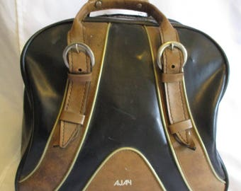 Vintage Bowling bag by Ajay- Black and brown