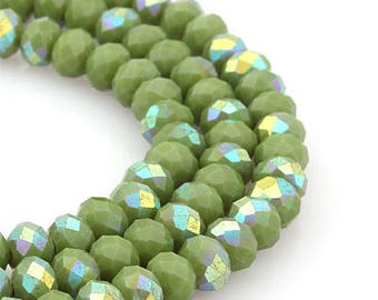 jewelry making couples for necklace bracelet Crystal Beads (rondelle Cut) 6mm Metallic Blue [About 240 Pieces]craft,supplies,craft supplies,
