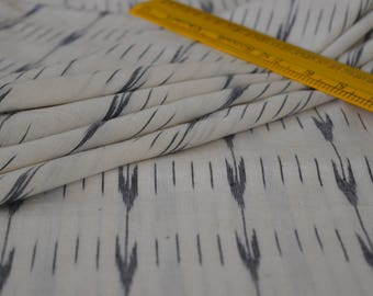 White and Black IKAT Fabric, Fabric by yard, Indian Fabric, Upholstery and Apparels Fabric, IKAT, Cotton Fabric