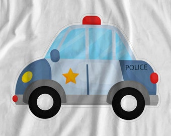 Cops & Robbers - Police Car - Iron On Transfer