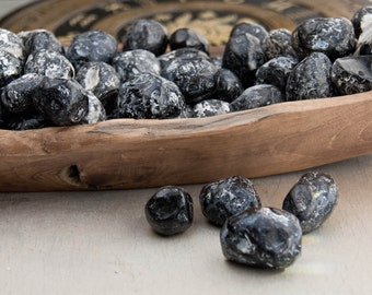 SET of 4 apache tears - obsidian gemstones