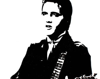 Elvis Presley hand-drawn drawing / painting