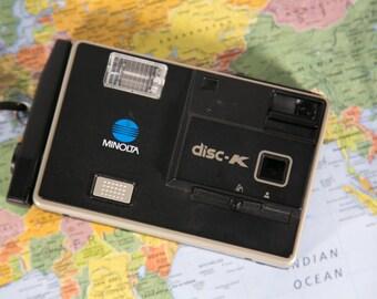 Minolta Disc K Disc Film Camera - Great Condition! #DISC9