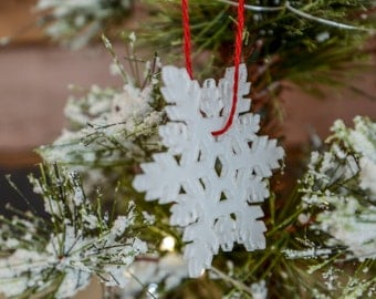 Frosted Acrylic Snowflake