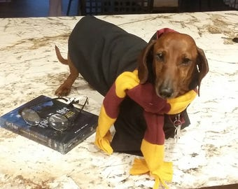 Harry Potter dog outfit, Harry Potter dog cape, Harry Potter dog scarf, dog costume