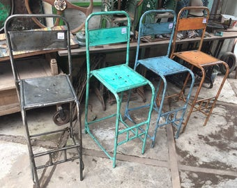 Vintage Outdoor Metal Bar Chairs   Modern Style Vintage Outdoor Metal Chairs    Vintage Iron Garden