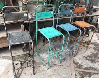 Vintage Outdoor Metall Bar Stühle   Modernen Stil Jahrgang Metall  Gartenstühle   Jahrgang Eisen