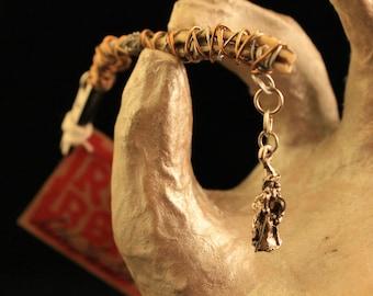 Dread Clip Smoking Clip OOAK Rusty Bones Skeleton Bones Wizard Charm Crystal Ball Fantasy Wire Wrap Hair Clip Roach