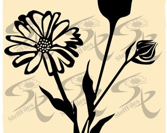 0430_Vector FLOWER  flowering,SVG,DXF,ai, png, eps, jpg, decoration,Silhouette, graphical