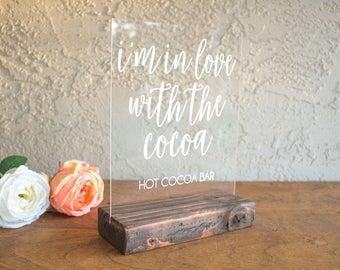 Wedding Hot Chocolate Bar Sign - Hot Chocolate Wedding Sign - Hot Cocoa Wedding Sign - Hot Cocoa Bar Sign - Hot Chocolate Bar Sign - Acrylic