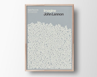 Song Lyric Poster, John Lennon