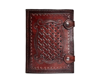 founded Notepad, leather case for block, note pad holder, holder, leather pad holder, leather holder, notizbichalter writting sketchbook