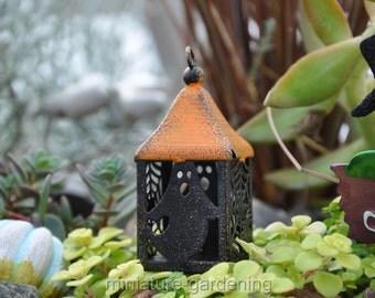 Halloween Lantern for Miniature Garden, Fairy Garden