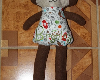 Personalized, custom plush puppy or kitty toy - Baby Safe! - 4 sizes available - Soft doggie or kitty doll - soft doll - Custom Doll