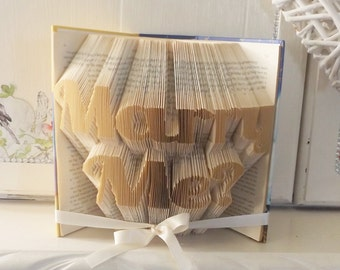 Marry Me Book Folding Pattern. DIY. Make your own gift. Please read Listing. PDF Files Only.