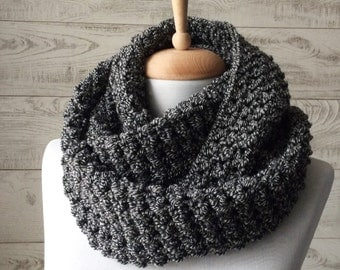 Mens knit scarf chunky scarf circle scarf warm scarf winter scarf mens scarf mens knit scarf knit cowl