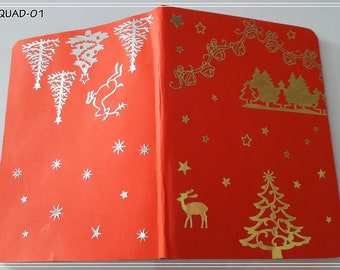 Decorated notebook 14.2 x 10.5 cm - Various decorations available