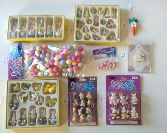 Easter Mini Accessories, Garland, Jingle Bunnies, and Pin