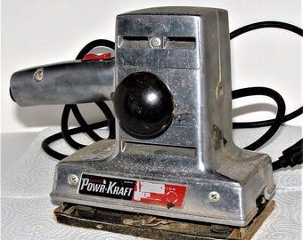 Vintage Powr-Kraft  Dual Motion Sander Works Great