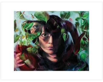 """Digital Art Print Based On Figurative Oil Painting """"The Path (Pan's Offering)"""""""