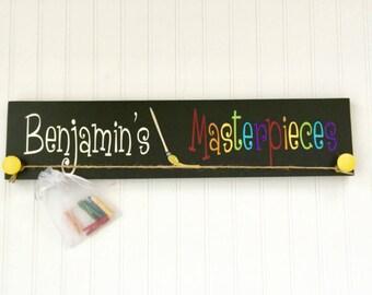 Artwork  Display - Personalized Artwork Display - Kids Artwork Display  - Childs Artwork Display - Kid's Room Decor - Playroom Sign