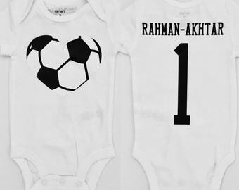 Soccer Personalized Jersey Onesie and Football Youth Shirt