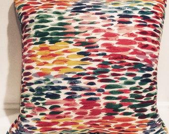 Watercolor Accent Pillow; Decorative Pillow Case; Accent Pillow Cover; Colorful Decorative Pillow;Pillow;Sofa Pillows; Custom Pillow Cover