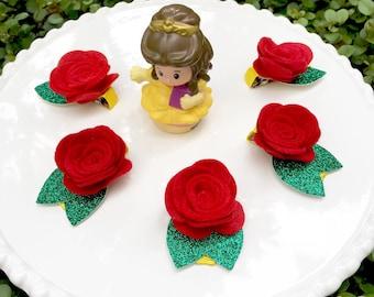 Belle rose clips