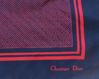 Pocket clutch Christian Dior, vintage silk